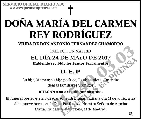 María del Carmen Rey Rodríguez